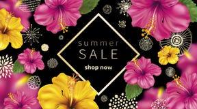 Fondo di vendita di estate Immagini Stock Libere da Diritti