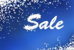 Fondo di vendita di inverno Fotografia Stock Libera da Diritti