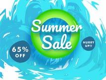 Fondo di vendita di estate, 65% fuori dalle offerte illustrazione di stock
