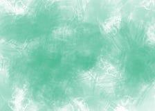 Fondo di verde dell'acquerello dell'estratto su Libro Bianco illustrazione di stock