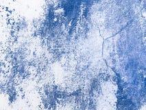 Fondo di verniciatura astratto blu della parete Stucco di Venezian fotografia stock