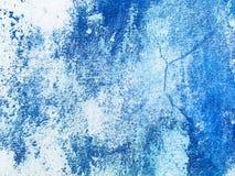 Fondo di verniciatura astratto blu di struttura della parete Stucco di Venezian immagini stock