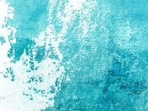 Fondo di verniciatura dell'estratto del blu di acquamarina Stucco di Venezian fotografie stock libere da diritti