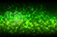 Fondo di vetro astratto del modello del cuore Fotografia Stock