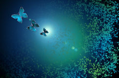 Fondo di vetro astratto del modello di farfalla Fotografie Stock