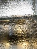 Fondo di vetro astratto - innaffi la condensazione sui glas freddi Immagini Stock