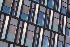 Fondo di vetro della facciata, esterno di costruzione Fotografie Stock Libere da Diritti