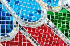 Fondo di vetro di struttura dell'estratto del mosaico Fotografie Stock