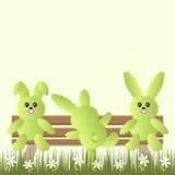 Fondo di vettore con i conigli Illustrazione di Stock