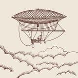Fondo di vettore con il baloon disegnato a mano dell'aria Immagine Stock Libera da Diritti