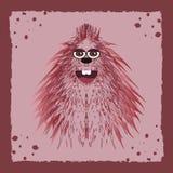 Fondo di vettore con il mostro rosa Illustrazione di Stock