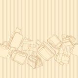 Fondo di vettore con il sacchetto della spesa Vettore Fotografie Stock Libere da Diritti