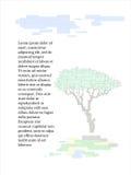 Fondo di vettore con l'albero dei rettangoli Fotografia Stock Libera da Diritti