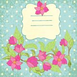 Fondo di vettore con la magnolia Fotografie Stock Libere da Diritti