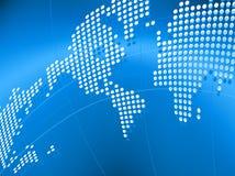 Fondo di vettore con la mappa del mondo Immagini Stock Libere da Diritti