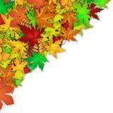 Fondo di vettore con le foglie di autunno variopinte Immagini Stock Libere da Diritti