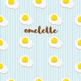 Fondo di vettore con le uova fritte immagine stock