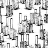 Fondo di vettore degli schizzi delle valigie royalty illustrazione gratis