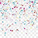 Fondo di vettore dei coriandoli sopra la griglia trasparente per le feste, partito, eventi, illustartion di vettore royalty illustrazione gratis