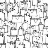 Fondo di vettore dei sacchetti della spesa fotografie stock libere da diritti