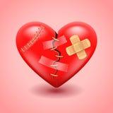 Fondo di vettore del cuore rotto Immagini Stock Libere da Diritti