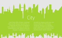 Fondo di vettore del paesaggio della città illustrazione di stock