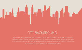 Fondo di vettore del paesaggio della città illustrazione vettoriale