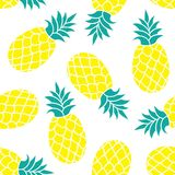 Fondo di vettore dell'ananas Stampa trogpical del tessuto di estate Fotografia Stock Libera da Diritti