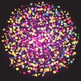 Fondo di vettore dell'estratto della sfera delle particelle dei coriandoli Fotografia Stock