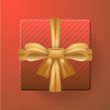 Fondo di vettore dell'insegna del modello di vendita del contenitore di regalo Immagine Stock