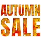 Fondo di vettore dell'insegna del modello di vendita di autunno Fotografie Stock