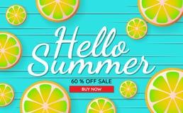 Fondo di vettore dell'insegna del modello di vendita di estate Fotografia Stock