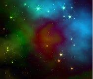 Fondo di vettore della galassia dello spazio Illustrazione realistica illustrazione vettoriale