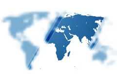 Fondo di vettore della mappa di mondo EPS10 Fotografia Stock Libera da Diritti