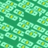 Fondo di vettore delle pile dei soldi Fotografia Stock