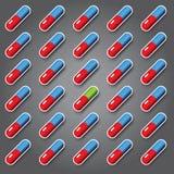 Fondo di vettore delle pillole di colore Fotografia Stock Libera da Diritti