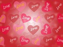 Fondo di vettore di amore Fotografie Stock