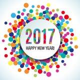 Fondo di vettore di 2017 buoni anni Fotografia Stock