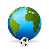 Fondo di vettore di calcio di concetto Fotografia Stock