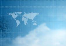 fondo di vettore di Ciao-tecnologia in cielo nuvoloso Fotografie Stock Libere da Diritti