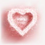 Fondo di vettore di giorno del ` s del biglietto di S. Valentino della struttura dei cuori Fotografia Stock