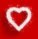Fondo di vettore di giorno del ` s del biglietto di S. Valentino della struttura dei cuori Fotografie Stock