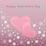 Fondo di vettore di giorno di biglietti di S. Valentino con il hea astratto Immagini Stock Libere da Diritti