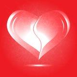 Fondo di vettore di giorno di biglietti di S. Valentino con il hea astratto Fotografia Stock Libera da Diritti