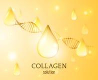 Fondo di vettore di goccia del collagene EPS10 Fotografia Stock