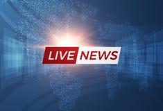 Fondo di vettore di notizie EPS10 Immagini Stock