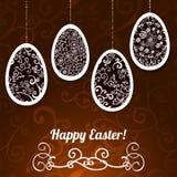 Fondo di vettore di Pasqua del cioccolato con le uova Immagini Stock