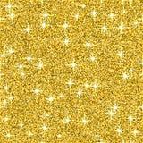 Fondo di vettore di scintillio di lustro dell'oro, modello senza cuciture dell'estratto giallo della scintilla, carta da parati d Fotografia Stock
