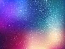 Fondo di vettore di spazio con le stelle Illustrazione dell'universo Contesto colorato dell'universo con il claster delle stelle Fotografie Stock Libere da Diritti