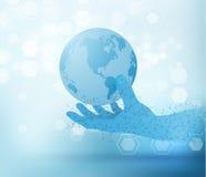 Fondo di vettore di tecnologia con le luci vaghe Immagini Stock Libere da Diritti